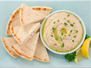 hummus appetizer catered